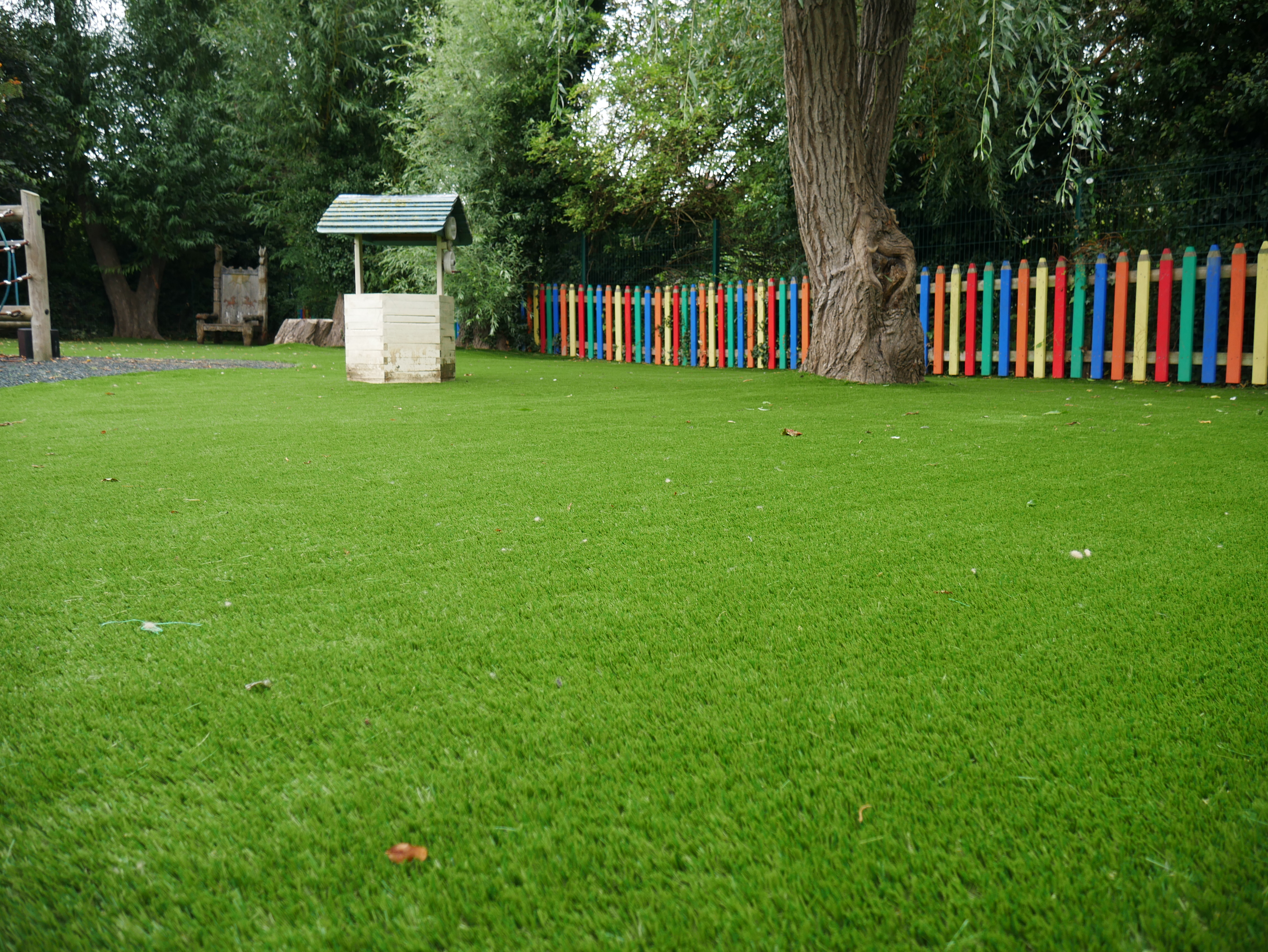 A Close Up Of The Artificial Grass Installed In Bicester S