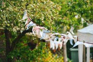 A picture of bunting for a summer garden party