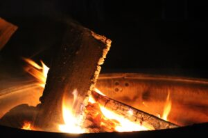A picture of a firepit